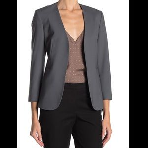 🧥 Theory collarless open front blazer